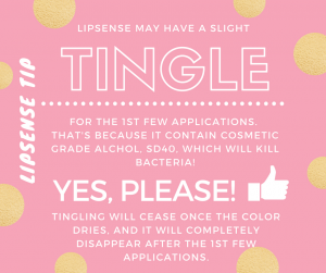 Lipsense tingle
