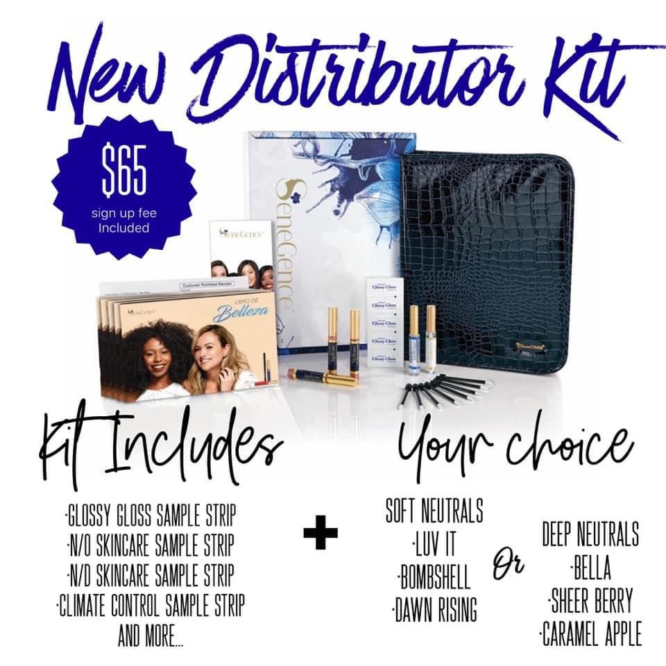 SeneGence free signup 2021: free new distributor kit with 3 lip color options.